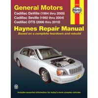 Haynes GM: Cadillac DeVille, Seville, & DTS, '92-'10 Manual from Blain's Farm and Fleet