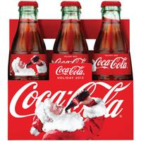 Coca-Cola Christmas Collector's Glass Bottle 6 Pack from Blain's Farm and Fleet