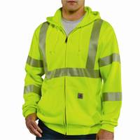 Carhartt Men's Hi Visibility Zip Up Front Class III Hoodie from Blain's Farm and Fleet