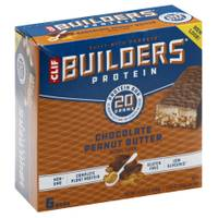 Clif Bar Builder's Chocolate Peanut Butter 20g Protein Bars - 6 Count from Blain's Farm and Fleet