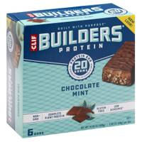Clif Bar Builder's Chocolate Mint 20g Protein Bars - 6 Count from Blain's Farm and Fleet