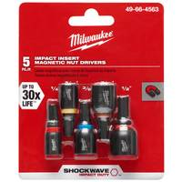 Milwaukee SHOCKWAVE Insert Nut Driver Set 5 Piece from Blain's Farm and Fleet