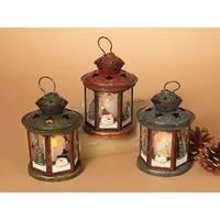 Gerson International Holiday Snowman Lanterns Assortment from Blain's Farm and Fleet