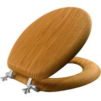 Bemis Round Oak Veneer Toilet Seat from Blain's Farm and Fleet