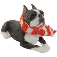 Sandicast Boston Terrier Laying Ornament from Blain's Farm and Fleet