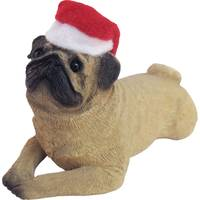 Sandicast Fawn Pug Laying Ornament from Blain's Farm and Fleet