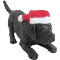 Sandicast Black Lab Crouching Ornament from Blain's Farm and Fleet