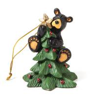 Big Sky Carvers Tree Topper Bear Christmas Ornament from Blain's Farm and Fleet