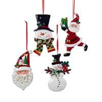 Kurt S. Adler Claydough Santa & Snowman Ornament Assortment from Blain's Farm and Fleet