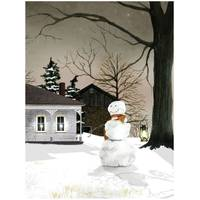 Timeless by Design LED Winter's Snowman Canvas from Blain's Farm and Fleet