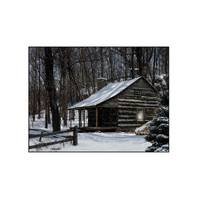 Timeless by Design LED Snow Capped Cabin Canvas from Blain's Farm and Fleet