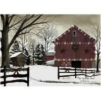 Timeless by Design LED Large Christmas Barn Canvas from Blain's Farm and Fleet
