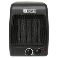 King Electric 1500 Watt Compact Black Ceramic Heater from Blain's Farm and Fleet