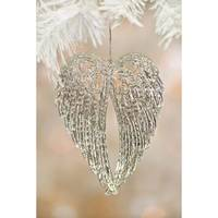 Caffco International Clear & Silver Wings Ornament from Blain's Farm and Fleet