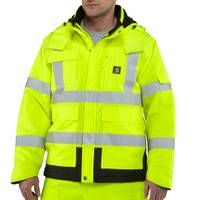 Carhartt Men's Yellow Hi-Vis Class 3 Sherwood Jacket from Blain's Farm and Fleet
