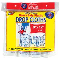 Warp's Jiffy Cover Plastic Drop Cloth 4 Pack from Blain's Farm and Fleet