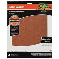 Gator Bare Wood Assorted Sandpaper Sheets from Blain's Farm and Fleet