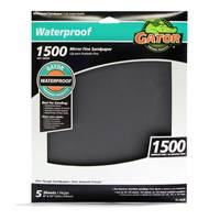Gator Waterproof 1500 Mirror Fine Sandpaper Sheets from Blain's Farm and Fleet