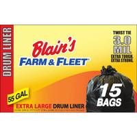 Blain's Farm & Fleet 55 Gallon 3.0 mil Drum Liner with Twist Ties from Blain's Farm and Fleet