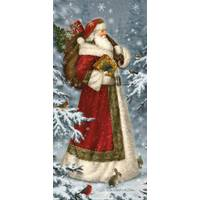 LPG Greetings Snowy Woodland Santa Glitter Cards from Blain's Farm and Fleet