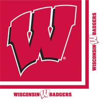 Creative Converting University of Wisconsin Luncheon Napkins from Blain's Farm and Fleet