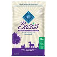 Blue Buffalo Life Protection Basics Grain Free Turkey & Potato Recipe Dog Food from Blain's Farm and Fleet