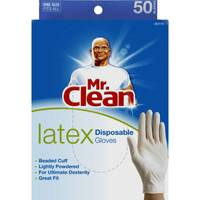 Mr. Clean Latex Disposable Gloves from Blain's Farm and Fleet