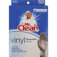 Mr. Clean Vinyl Disposable Gloves from Blain's Farm and Fleet