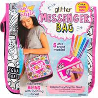 Just My Style Color Your Own Glitter Messenger Bag from Blain's Farm and Fleet