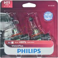 Philips Automotive Lighting H11 VisionPlus Headlight (Twin Pack) from Blain's Farm and Fleet