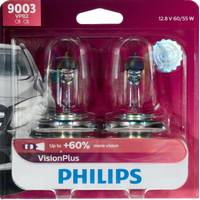 Philips Automotive Lighting 9003 VisionPlus Headlight (Twin Pack) from Blain's Farm and Fleet