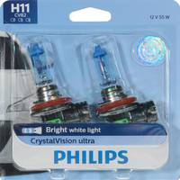 Philips Automotive Lighting H11 CrystalVision Ultra Headlight (Twin Pack) from Blain's Farm and Fleet