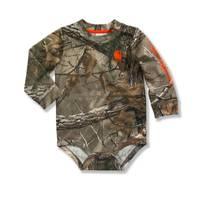 Carhartt Baby Boys' Long Sleeve Logo Bodyshirt from Blain's Farm and Fleet