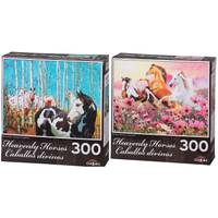 Lafayette Puzzle Factory 300-Piece Heavenly Horses Puzzle Assortment from Blain's Farm and Fleet