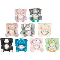 Silver One International 2-Piece Throw & Hug Animal Set Assortment from Blain's Farm and Fleet