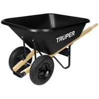 Truper 8 Cubic Feet Poly Wheelbarrow from Blain's Farm and Fleet