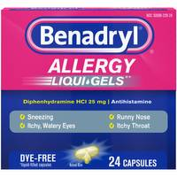 Benadryl Allergy Relief Liqui-Gels from Blain's Farm and Fleet