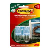 Command Outdoor Medium Clear Window Hooks from Blain's Farm and Fleet