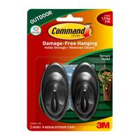 Command Outdoor Medium Slate Terrace Hooks from Blain's Farm and Fleet