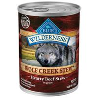 Blue Buffalo Wilderness Wolf Creek Stew Hearty Beef in Gravy Natural Dog Food from Blain's Farm and Fleet