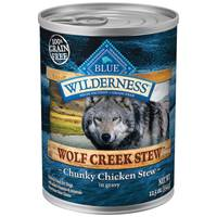 Blue Buffalo Wilderness Wolf Creek Stew Chunky Chicken in Gravy Natural Dog Food from Blain's Farm and Fleet