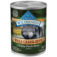Blue Buffalo Wilderness Wolf Creek Stew Hearty Duck in Gravy Natural Dog Food from Blain's Farm and Fleet