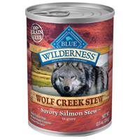 Blue Buffalo Wilderness Wolf Creek Stew Savory Salmon in Gravy Natural Dog Food from Blain's Farm and Fleet