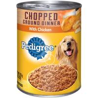 Pedigree Meaty Ground Dinner Chopped Chicken Canned Dog Food from Blain's Farm and Fleet