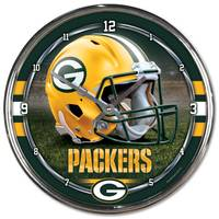 NFL Green Bay Packers Round Chrome Clock from Blain's Farm and Fleet