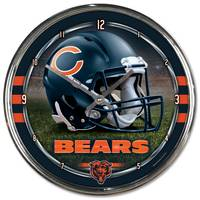 NFL Chicago Bears Round Chrome Clock from Blain's Farm and Fleet
