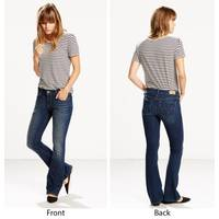 Levi's Misses Dark Wash Blue 515 Undercurrent Boot Cut Jeans from Blain's Farm and Fleet