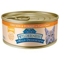 Blue Buffalo Wilderness Wild Delights Chicken & Turkey Flaked Wet Cat Food from Blain's Farm and Fleet