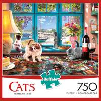 Buffalo Games 750-Piece Cat Tales by Charles Wysocki Jigsaw Puzzle Assortment from Blain's Farm and Fleet