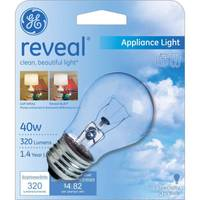 GE 40W A15 GE Reveal Appliance Bulb from Blain's Farm and Fleet